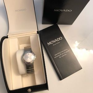 Movado Brushed Stainless Steel Women's Watch